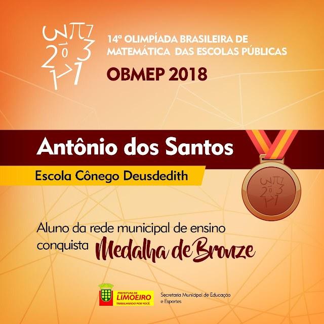 Limoeiro é destaque com Escola Municipal premiada na 14ª Olimpíada Brasileira de Matemática 2018