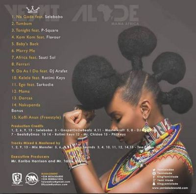Psquare, Sarkodie, Sauti Sol feature on Yemi Alade's 2nd album, 'Mama Africa' 1