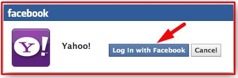 yahoo login with facebook password