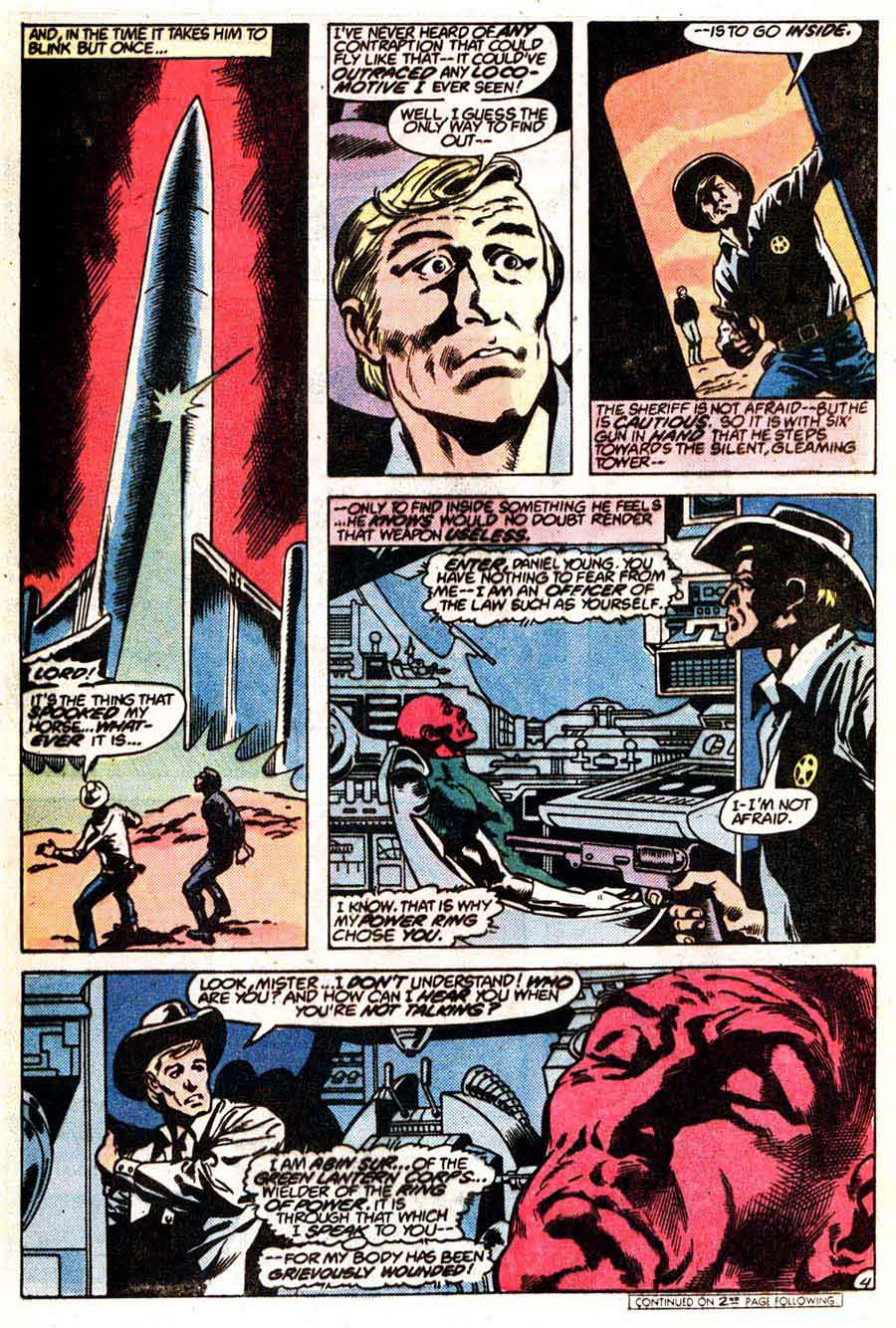 Green Lantern v2 #149 dc comic book page art by Don Newton