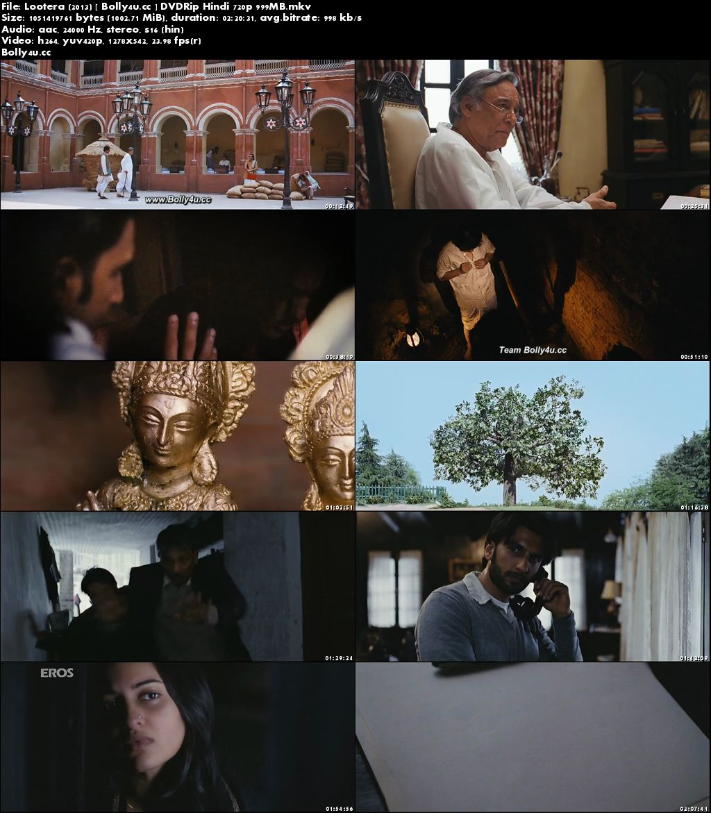 Lootera 2013 DVDRip 400MB Full Hindi Movie Download 480p