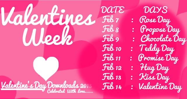 Valentine Week List Of 2016- Schedule, Date and Other Details