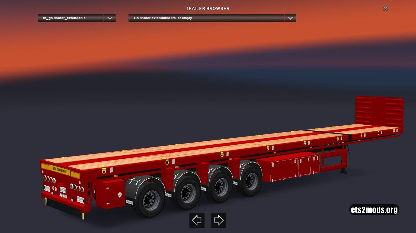 Standalone Goldhofer Trailer