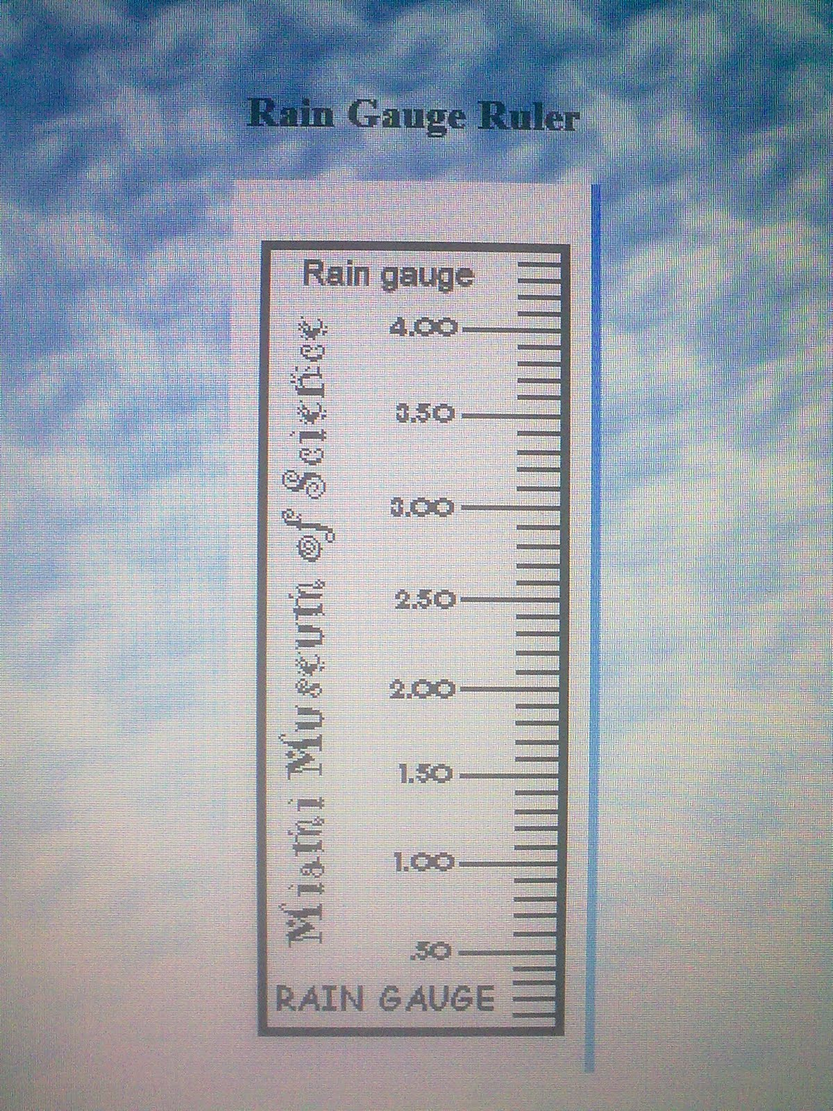 How To Build A Rain Gauge