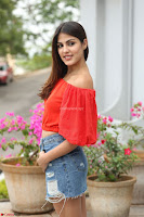 Rhea Chakraborty in Red Crop Top and Denim Shorts Spicy Pics ~  Exclusive 173.JPG