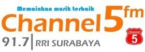 Channel 5 fm 91.7 MHz RRI Surabaya musik terbaik