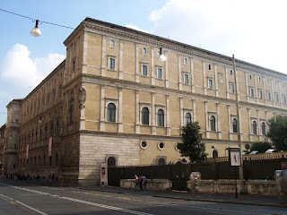 The Palazzo della Cancelleria, built between 1489 and 1513, is thought to be the oldest Renaissance palace in Rome