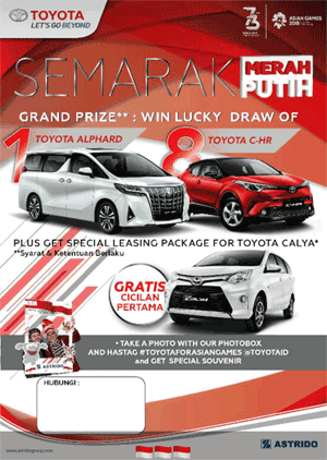 Promo Kredit DP Cicilan Murah Toyota 2018