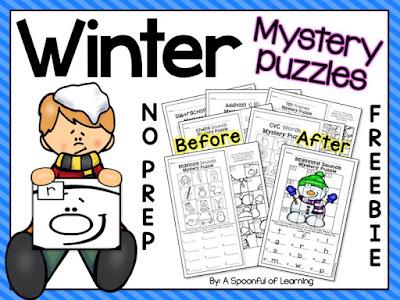 Winter Mystery Puzzles FREEBIE!