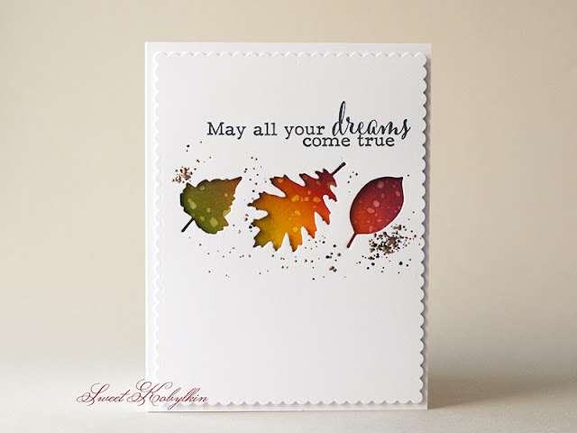 Greeting Card with Falling Leaves from My Favorite Things by Sweet Kobylkin