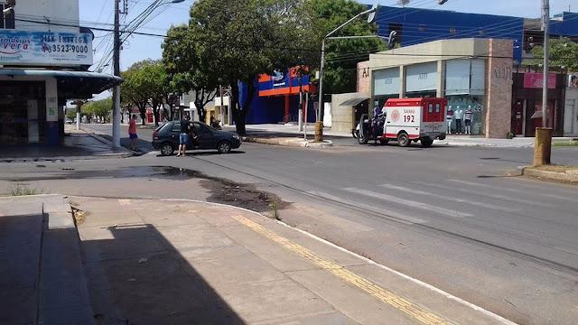 Ambulância do Samu se envolve em acidente de trânsito na Av. Mendonça Furtado