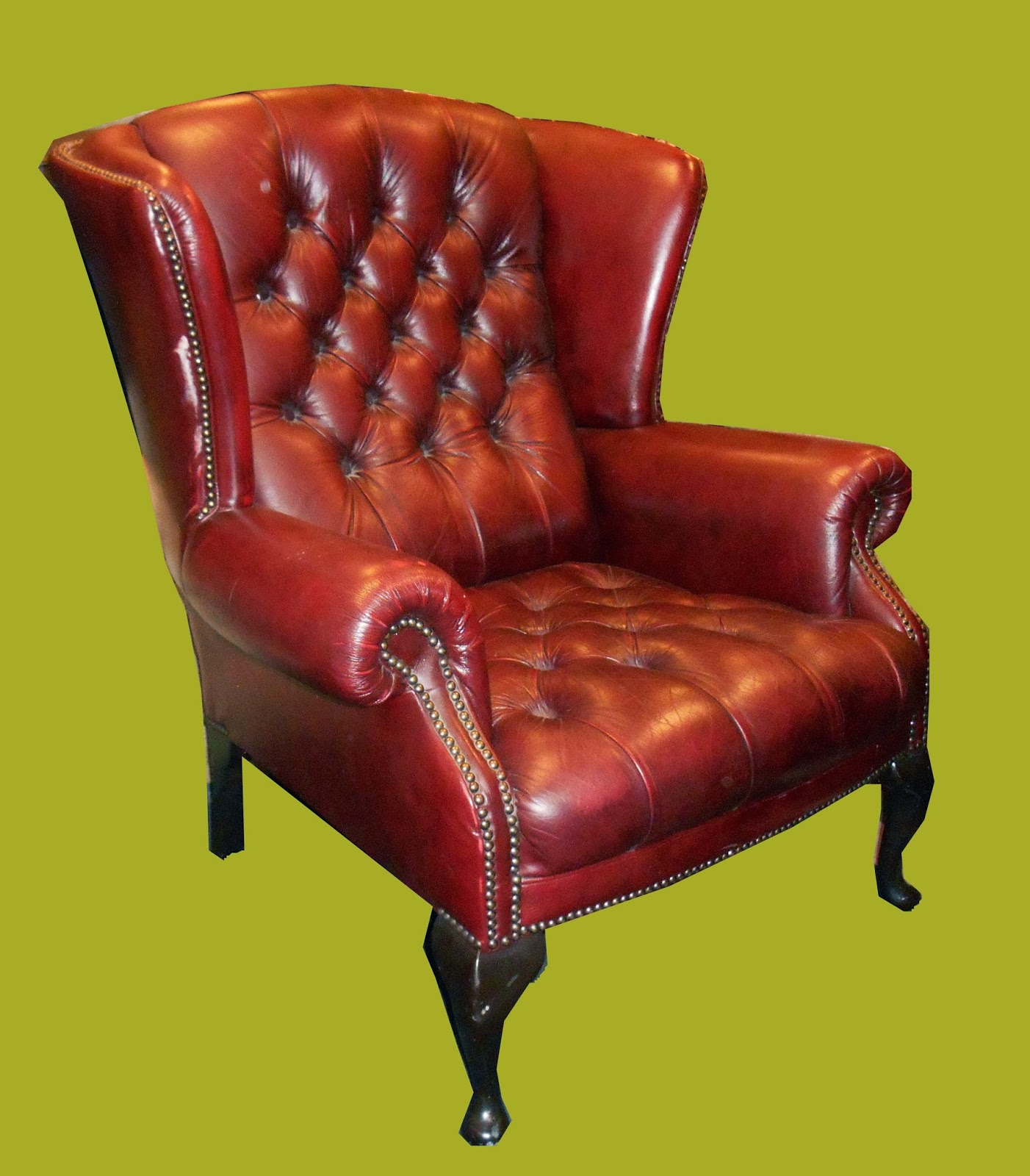 Leather Wingback Chairs South Africa Oversized Chair Recliner Uhuru Furniture And Collectibles Tufted Wing Back