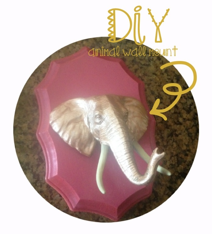 Ashley Thunder Events: DIY ANIMAL WALL MOUNT