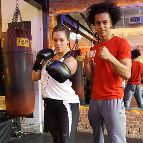ashey graham workout favorite is kickboxing