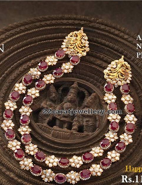 Ruby Floral Set by Navaratan Jewellers