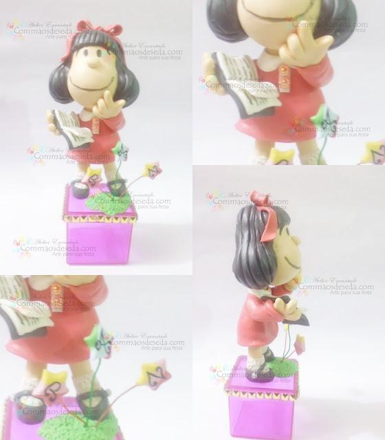 """Bonequinha de Biscuit """"Mafalda Gosta de ler"""""""