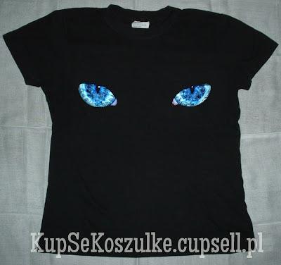 koszulka oczy kota