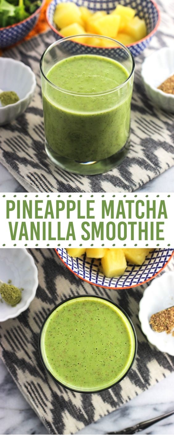 Pineapple Matcha Vanilla Smoothie