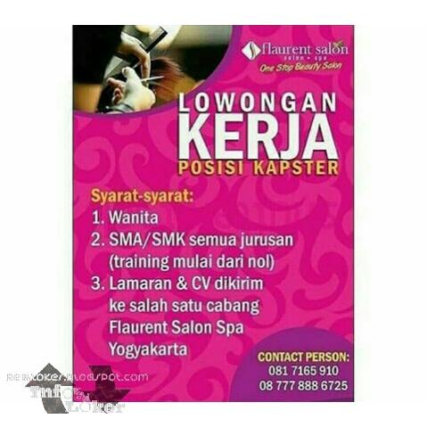 Lowongan Kerja Flaurent Salon Yogyakarta Info Lowongan