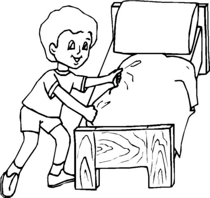Niños Haciendo Tareas Responsabilidades Para Colorear Imagui