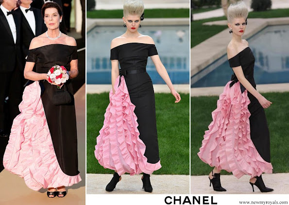 Princess Caroline wore Chanel dress from Haute Couture Spring/Summer 2019 Collection