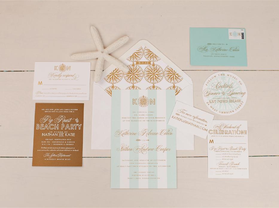 Long Distance Relationship Wedding Invitation: Nico And LaLa: Monogrammed Wedding Invitations