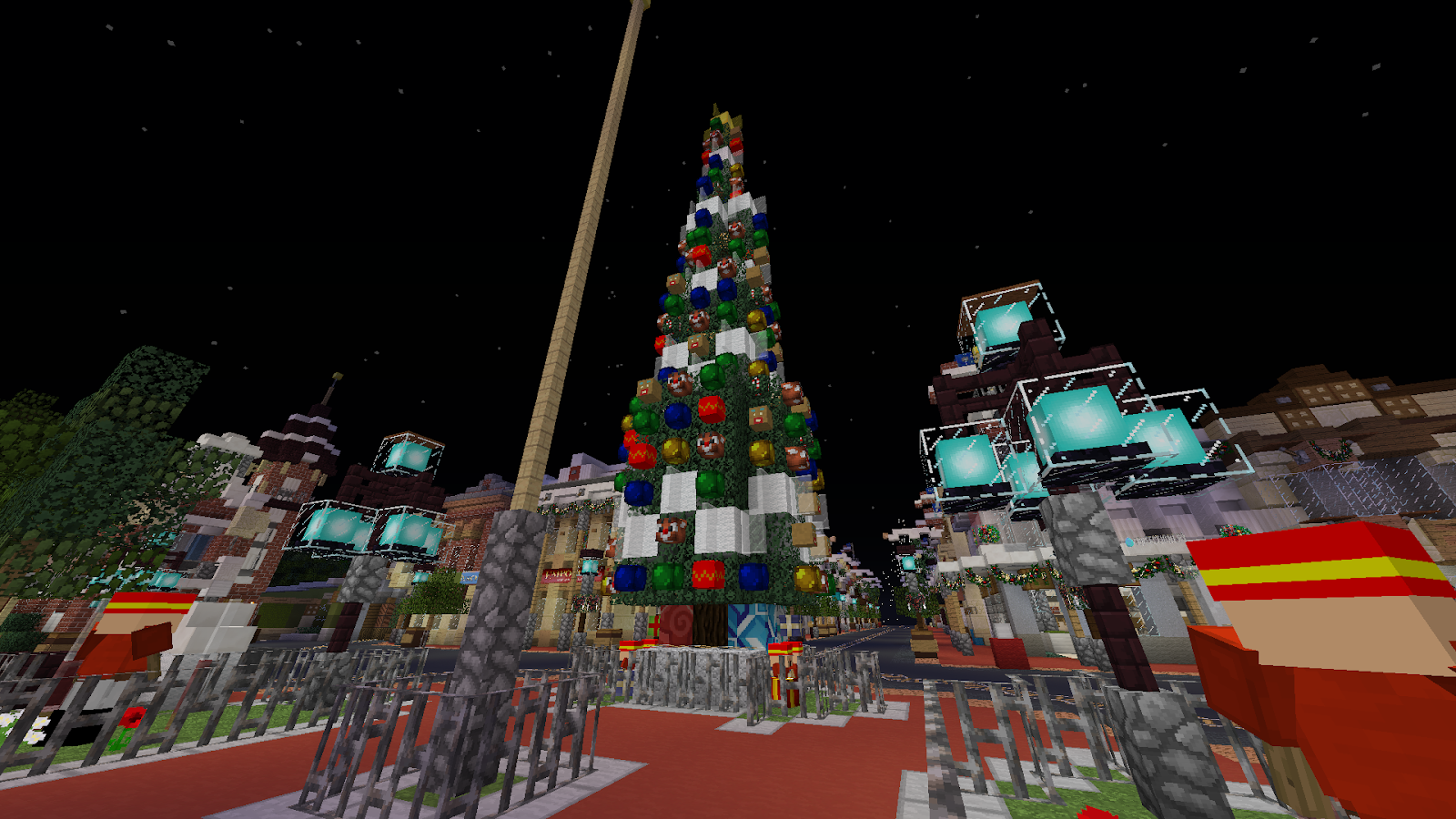Christmas Minecraft Decorations.Walt Disney World Christmas Decorations On Mcparks