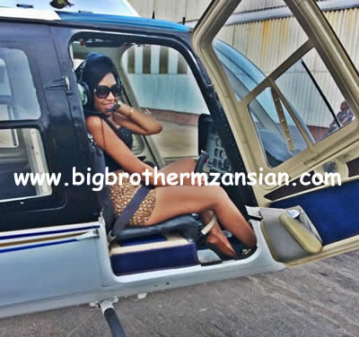 Blue Mbombo Taking Helicopter Flying Lessons