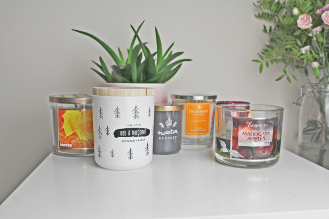 My Autumn candle collection - www.nourishmeblog.co.uk