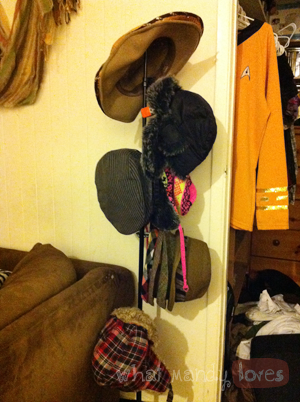 Tip #13: C-Stand As A Hat Stand via www.whatmandyloves.com