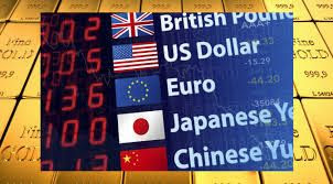 5 major global currencies, BGP, USD, EURO, CNY, JPY