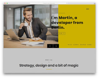 Demonstração Theme Martin Responsivo e Clean para Sites 2018