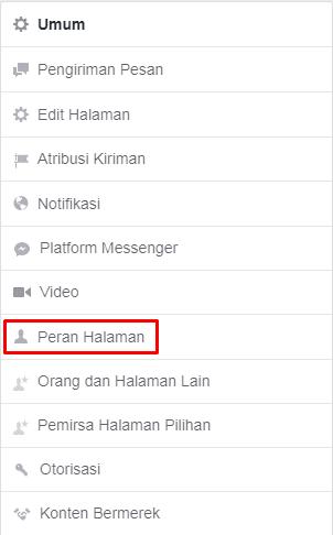 peran halaman adalah fitur facebook untuk menambahkan admin