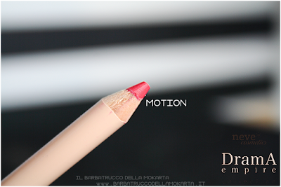 MOTION review Bio Pastello Labbra drama empire collection neve cosmetics