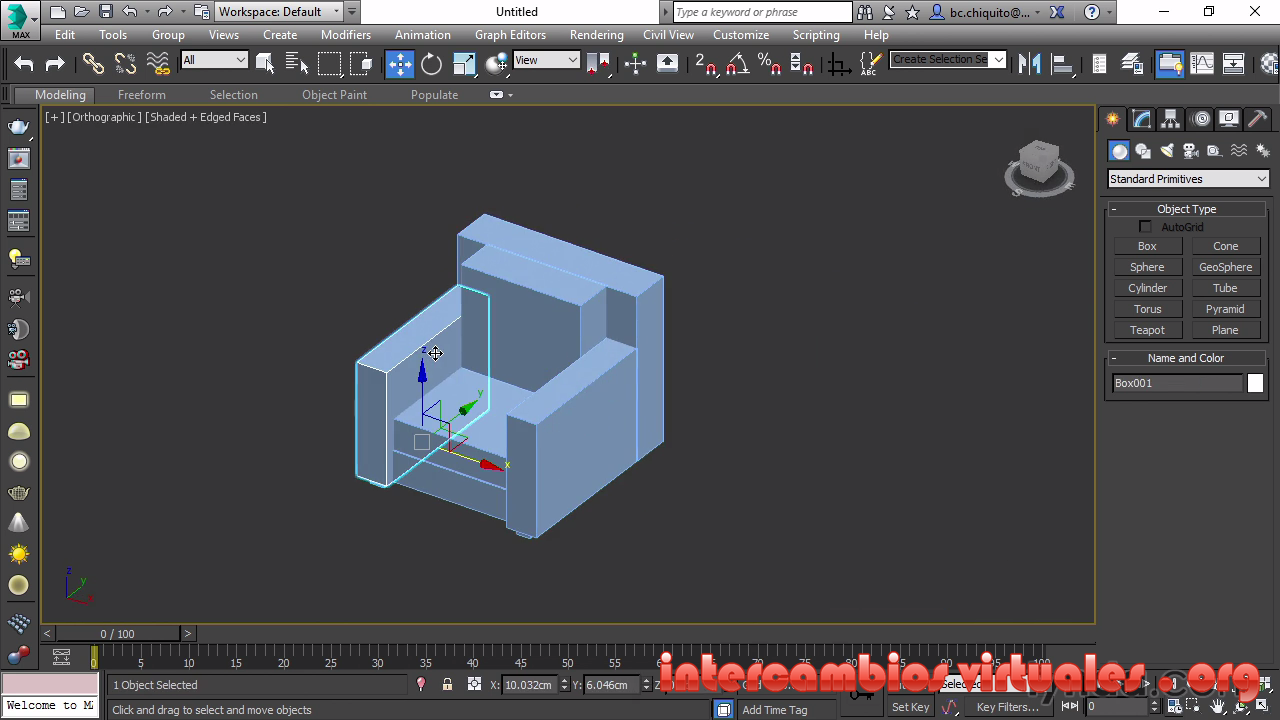 Vide02brain modelado de muebles con 3ds max y zbrush for Muebles oficina 3ds max