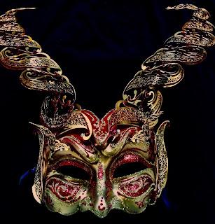 Diavolo Lux Venetian Masquerade Mask
