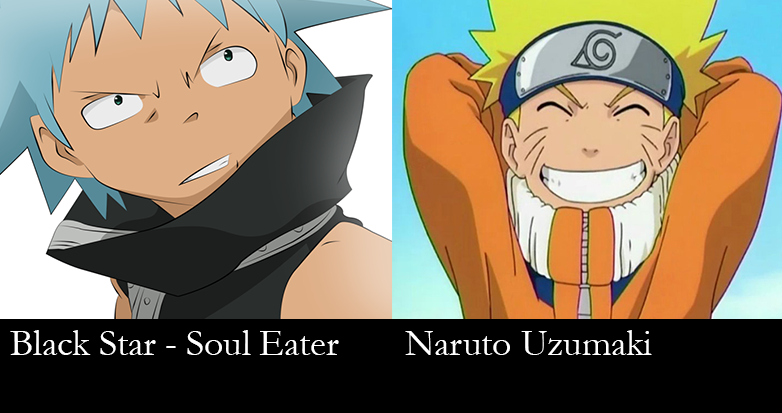 similar characters - Naruto and Black Star