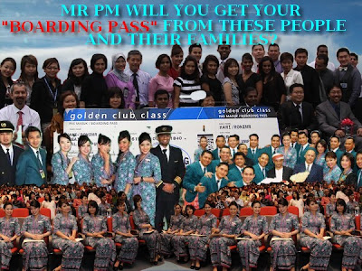 "SORRY MR PM..THERE'LL BE NO ""BOARDING PASS"" FROM US AND OUR IMMEDIATE FAMILIES.."