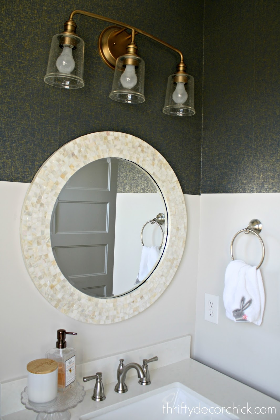 How To Install Peel And Stick Wallpaper From Thrifty Decor Chick