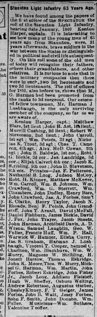 Staunton Spectator & Vindicator,  Staunton, Virginia  Friday, March 6, 1903