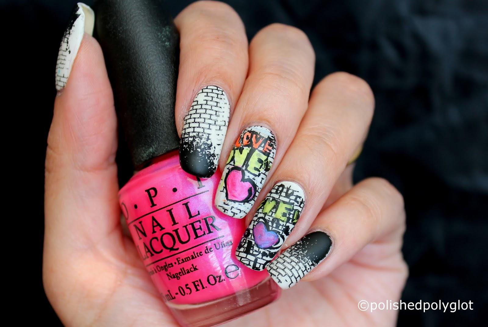 Nail Art │ Graffiti Nails [26 Great Nail Art Ideas] / Polished Polyglot