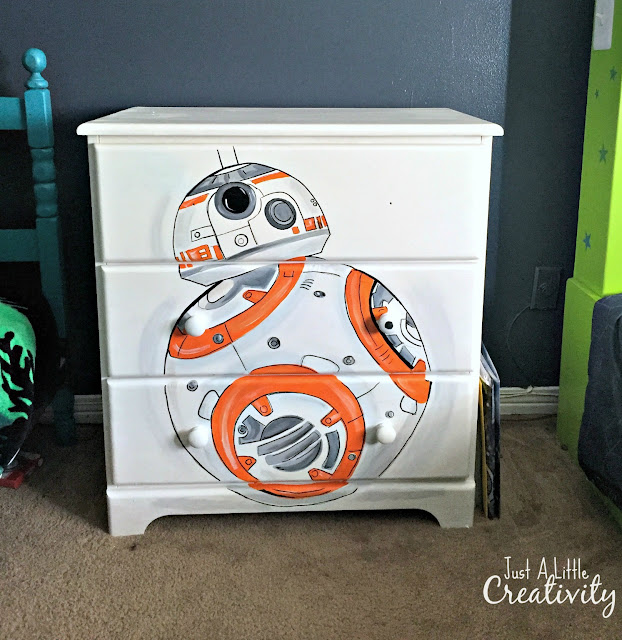 just a creativity wars bb8 painted