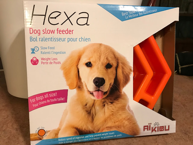 AÏKIOU HEXA Dog Slow Feeder Bowl. Interactive Stops Bloat. For Small & Large Healthy Dogs