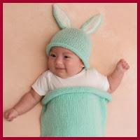 Bebé conejito de punto