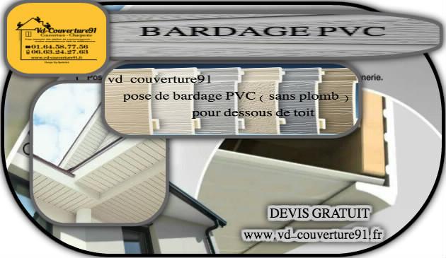 Pose de bardage en PVC  pour dessous de toit
