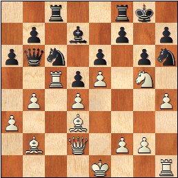 XVI Campeonato Femenino de Catalunya 1959, partida de ajedrez Maria Luïsa Puget - Pepita Ferrer, posición después de 18.h4!