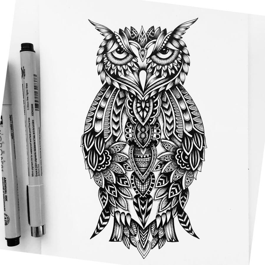 02-Great-Horned-Owl-Raven-Pavneet-Sembhi-www-designstack-co