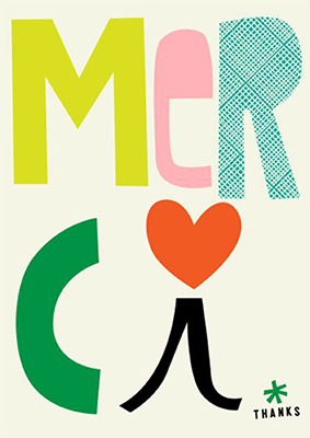 Merci Print by Sophie Ledesma
