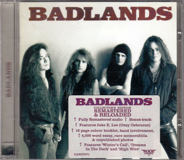 66dbb0a9192294 BADLANDS - Badlands +1  Rock Candy Remastered  Out Of Print ...