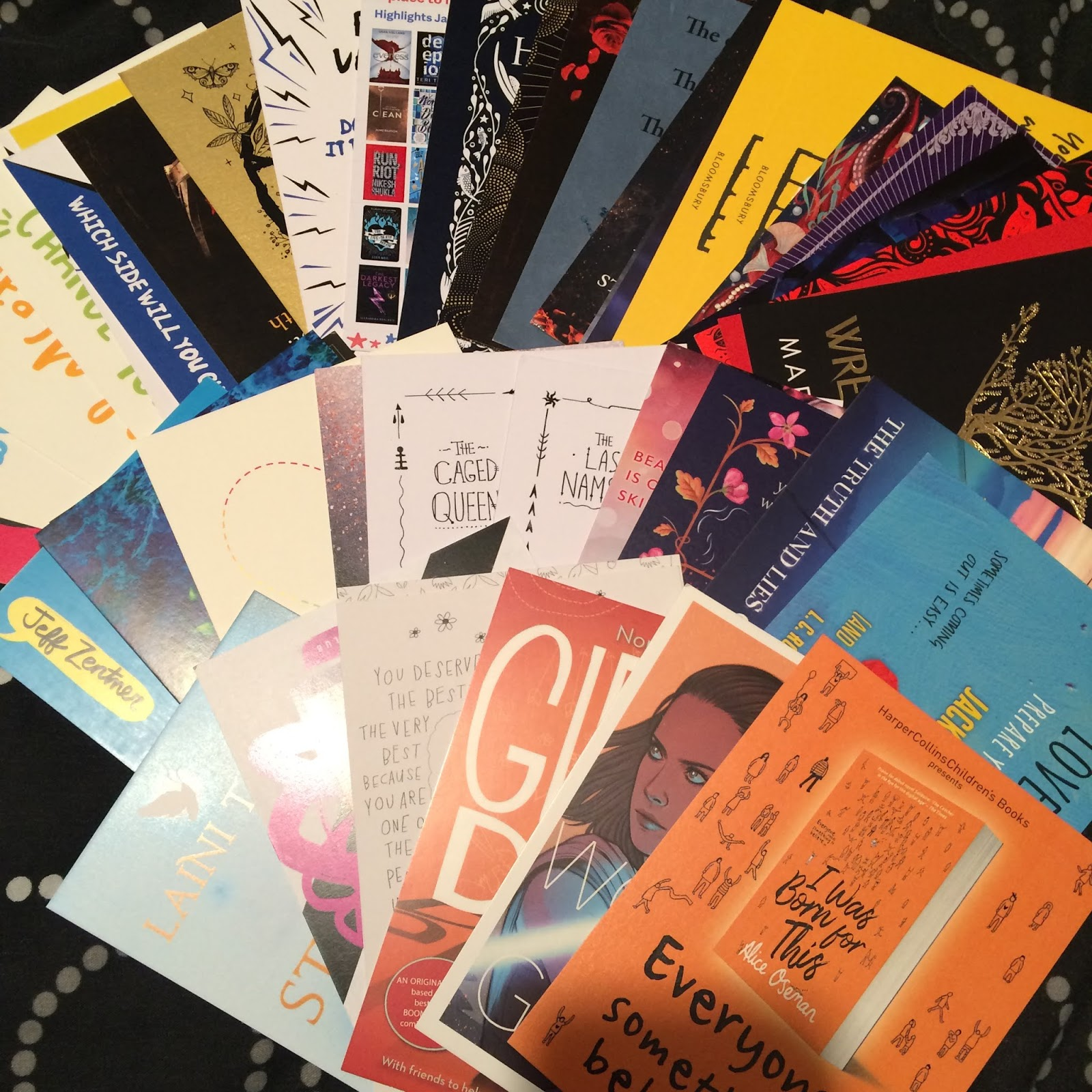 A large assortment of postcards